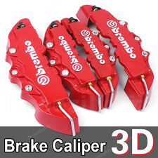 3D Car Brake Caliper Cover Brembo Style Universal Disc Racing Front Rear Red B04