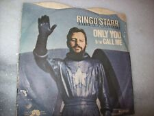 "7"" Single P/S 45 - RINGO STARR - THE BEATLES - ONLY YOU - 1974 - BRAZIL"