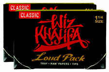 2X Wiz Khalifa Rolling Papers Loud Pack RAW Artesano 1 1/4 Tips & Tray Free Ship