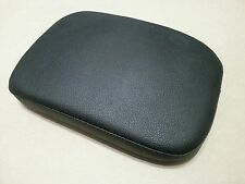 Black Leather Detachable Suction Cup Passenger Pillion P Pad 11 X 7.25 Harley