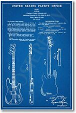 Fender Bass Patent - NEW Vintage Invention Patent Poster