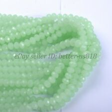 60Pcs Green Opal Quality Czech Crystal Faceted Rondelle Beads 6MM