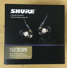 Shure SE535-CL 535 Triple MicroDriver In-Ear Headphones Clear Transparent Con
