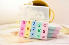 Box 15Pcs Kid Students School Supplies eraser Kids Mathematics Prize Count