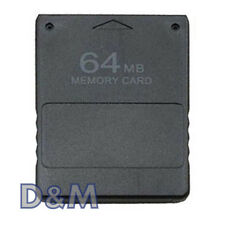 MEMORY CARD 64 MB PER CONSOLE PS2 PLAYSTATION 2 SCHEDA DI MEMORIA