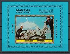* Manama, Michel cat. 1070, BL207 A. Apollo 11 Splashdown, Space s/sheet.