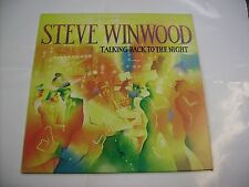 STEVE WINWOOD - TALKING BACK TO THE NIGHT - LP VINYL EXCELLENT CONDITION 1982