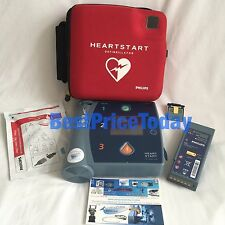 PHILIPS HEARTSTART FR2+ defib AED Battery Pads Plus Adult Child Mem Card Case