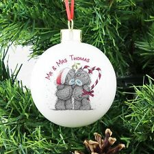 Me to You Personalised Christmas Tree Bauble Gift For Couple Decoration