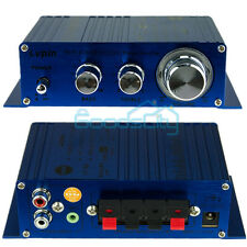 Mini 2CH Hi-Fi Stereo Amplifier Booster DVD MP3 Speaker for Car Motorcycle Home