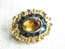 Antique mourning brooch IN MEMORY ~ 9ct gold cased ~