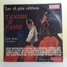 """33T Luis PENA Disque LP 12"""" ADIOS MUCHACHOS 16 TANGOS PASOS - MUSIDISC 1033"""