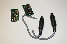 2x shielded & soldered 3 Pin Mini Din Male Connector + CCTV circuitry circuitos