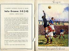 QUADERNO FASCISMO SCHIAVIO MEAZZA CALCIO FOOTBALL GINEVRA,ITALIA SVIZZERA 1933
