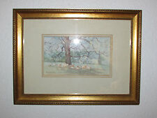 Vintage Original Watercolor Painting , Signed, By Barbara H. Sheppard - 1982