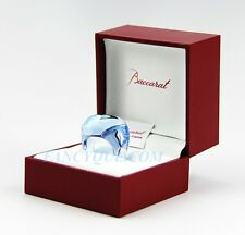 BACCARAT GALET RING AQUAMARINE CRYSTAL SIZE 49 NEW MADE IN FRANCE ORIGINAL BOX