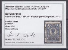 Deutsche Besetzungsausgaben 1914/1918 Dorpat 1a  ** postfrisch geprüft Befund