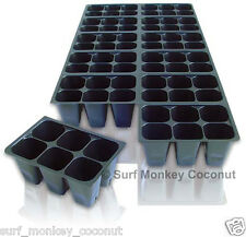 720 CELLS NEW Seedling Starter Trays +5 PLANT LABELS! Easy-Out Seed Sowing Flats