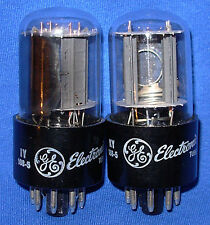 NOS / NIB Matched Pair GE Side Getter 6SN7GTB Vacuum Tubes