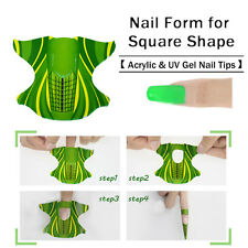 100pcs/roll Square Shape Adhesive Nail Form Acrylic Tips Extension Manicure Tool