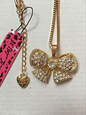 Betsey Johnson fashion jewelry Cute White Crystal butterfly pendant necklace #B