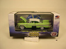 M2 MACHINES 1:64 SCALE DIECAST METAL GREEN 1958 PLYMOUTH BELVEDERE