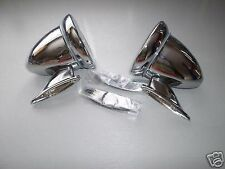 CLASSIC MINI CHROME WING/DOOR MIRROR BULLET RACING PAIR CAR MG TRIUMPH BMC 7M2