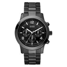 NEW GUESS WATCH Men * Chronograph * Black Stainless Steel Case/Strap * U15061G1