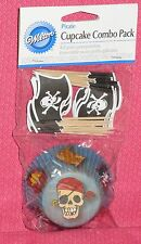 Pirate Cupcake Papers/Picks,Combo Pack,Wilton, Multi-Color,Bake Cups,Party