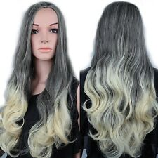 25%off Full Wig Heat Resistant Curls Waves Straight Ombre Black Brown Blond Wigs
