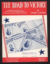 The Road To Victory 1943 National War Fund WW II Sung by Bing Sheet Music