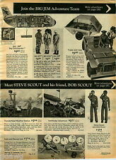 1975 PAPER AD Action Figure Big Jim Steve Bob Scout Duke Dog Safari Hut Boat