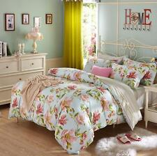 France Floral King 100% Cotton Bedding set Duvet Cover Flat sheet Pillowcases