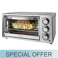 Toaster Oven Oster 6 Slice Convection Silver Stainless Steel Toast Bake Broil