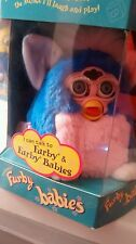 Furby Babies 1999 Tiger Electronics Model 70-940 Blue w/ Pink Chest