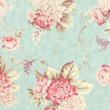 Sea Green Floral 3 Sisters Favorites 2014 Fabric - BTY - Moda - 3765 14