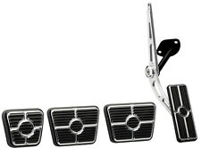 BILLET SPECIALTIES BLACK PEDAL KIT,CABLE-STYLE GAS,CLUTCH,BRAKE,E- PARKING,67-69