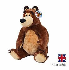 BEAR PLUSH TOY Masha And The Bear Movie Characters Kids Birthday Christmas Gift