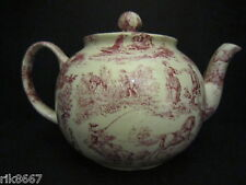 Heron Cross Pottery Romance Red Chintz English 6-8 Cup Tea Pot