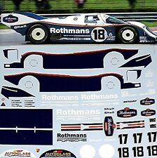 Porsche 962C LeMans 1987 Stuck Bell #17 + Mass Wollek #18 1:24 Decal Abziehbilde