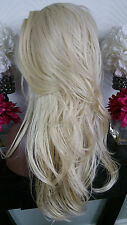 Beautiful Platinum Blonde Lace Front Wig Long Wavy Heat Safe