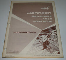 Parts Book Ersatzteilkatalog Johnson Sea Horse Accessories Sea-Horse Stand 1969!