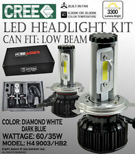 JDM H4 9003/HB2 6K 30K White & Blue Kit Canbus CREE COB LED KIT High Low Dual