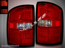 14-15 GMC SIERRA L.E.D TAIL LIGHTS RED/CLEAR REAR BRAKE LAMPS NEW