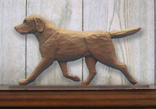 Chocolate Labrador Retriever Dog Figurine Sign Plaque Display Wall Decoration