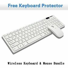 White 2.4G Optical Wireless Keyboard and Mouse USB Receiver Kit For Laptop PC