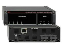 RDL RU-NL4 Network to Line Level Interface/Dante In/4 Balanced Line Out