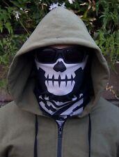 Mil-Spec Monkey MSM BLACK Skull Face Mask Multi-Purpose Swat Ops URBAN Head Wrap