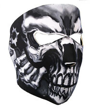 Neoprene Skull Full Face Reversible Motorcycle Mask (Assassin)