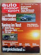 AUTO MOTOR UND SPORT 12.12. - 25/1984 Mercedes Tuning BMW VW Golf Seat Ibiza